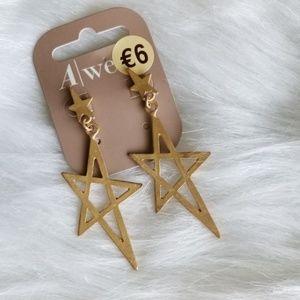 🆕️ 🌠 Gold Shooting Star Dangle Fashion Earrings